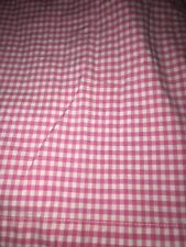 Pottery Barn Kids Full Sheet Set Pink White Check Cotton Gently Used  3 Pc 2008