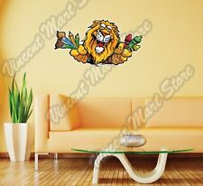"""Lion Face Crayons Paint Brushes Gift Wall Sticker Room Interior Decor 25""""X16"""""""