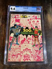 Batman Comic #200 CGC 9.4⭐️Classic Neal Adams⭐️Amazing Book⭐️