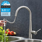 WELS Luxury Pull Out Spray Faucet Mixer Nickel Brushed Kitchen Sink Basin Tap