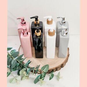 Blank 500ml Pink, grey, black square pump dispenser bottles Mrs Hinch inspired