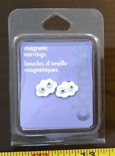 Claires Claire's Earrings White Cloud Cute Magnetic Jewellery RRP £3.50