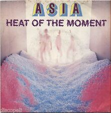 """ASIA - Heat of the moment - VINYL 7"""" 45 ITALY 1982 MINT COVER VG+ CONDITION"""