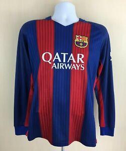 Unbranded Barcelona Jersey Long Sleeve Shirt Foottball Soccer Mens Size Medium