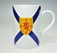 Nova Scotia  Porcelain Cup Mug Lion Crest 1625 Saint Andrew Shield of Arms