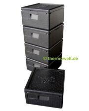 5 x Profi Thermobox Pizza, Isolierbox Pizzabox, schwarz 175mm Nutzhöhe