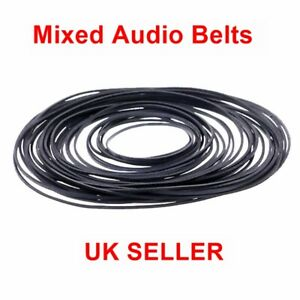 30 Pcs Kit Cassette Tape Belt Mixed Common Sizes 40-130mm, 1mm Square UK SELLER