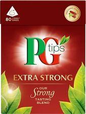 PG Tips Pyramid Extra Strong Tea (4x80 Bags)