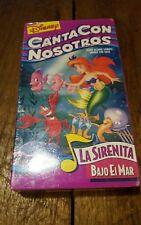 Disney Canta Con Nosotros - La Sirenita Bajo El Mar (VHS, 1994, Spanish)