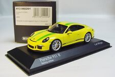 "1:43 MINICHAMPS 2016 PORSCHE 911R 991 II ""ALMOST REAL"" Racing Yellow LE 199"
