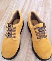 LEATHER Men's Tan Work Shoes Boots Style Hiking Walking Trekking Trail Size  6