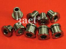 12pcs Titanium / Ti Bolt & Nut (8 Bolts & 4 Nuts) for Triple Crankset Chainring