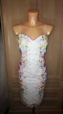 Lipsy Floral Lace White Cami Dress UK Size 16