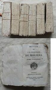# OEUVRES DE MOLIERE en 6 TOMES (Ledoux & Tenré 1818) COMPLET (à relier)