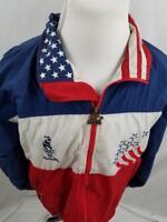 VTG Starter 1996 Atlanta Olympics Mens L Flag WIndbreaker Jacket USA Team XL