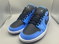 Air Jordan 1 Low University Blue Black - Men's 8-13