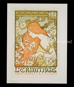[ART NOUVEAU] Paul Berthon L'ermitage cromolitografía 1900