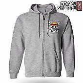One Piece Zip-Up Outdoor Hoodie Jacket (Gray)