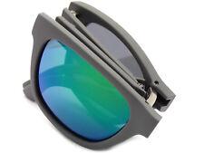 LACOSTE folding Sunglasses Matte Grey / Green Mirror Lenses L778S 035