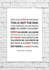 Mumford & Sons - Sigh No More - Song Lyric Art Poster - A4 Size
