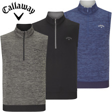 CALLAWAY FLEECE LINED WATER REPELLENT 1/4 ZIP GOLF VEST / NEW FOR 2019 !!!!!!!!!