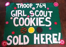 Personalized Troop Banner- Custom! Girl Scout Cookie Sales table banner