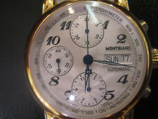 MONTBLANC MEN'S WATCH AUTOMATIC ALL S/S TWO TONE SAPPHIRE ORIGINAL SWISS NEW