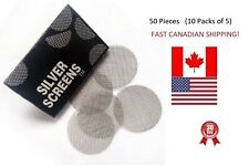 "50 Pipe Screens Steel Silver Tobacco Smoking 3/4"" 20mm BEST PRICES IN CANADA/USA"