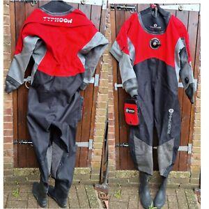 Typhoon Dry Suit, Red/Black, Medium Boot Sz 9. - Used