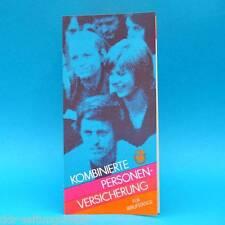 Komb. Personenversicherung 1977 | Werbung Prospekt DDR Staatl. Versicherung C