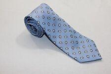 KR2012 Enrico Mori  Krawatte  blau, weiß glänzend gemustert