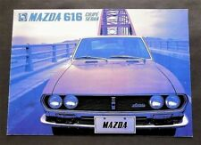 ORIGINAL 1972 MAZDA 616 U.S. SALES BROCHURE~1600cc COUPE & SEDAN ~ 8 PAGES ~ M16