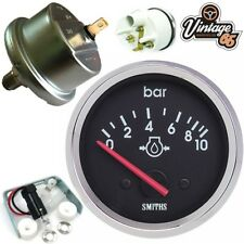 Smiths Classic Car 52mm Oil Pressure Gauge & Sender Unit Chrome Bezel Race Rally