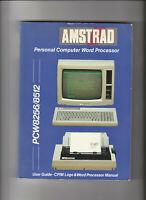 Original MANUAL For Amstrad PCW 8256 & 8512 Computers (1986)