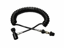 Paintball Remote Coil Coiled Remote Hose Line with Slide Check Co2 Hpa black New