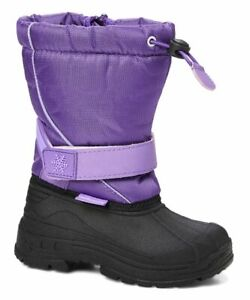 Adorababy Little Kids Girls Purple Snowflake-Accent Snow Boots US 2