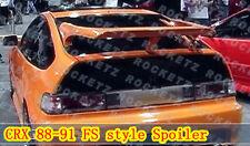 88-91 Honda CRX CR-X DX HF Si JDM FS Style Wing Spoiler Quality FRP USA CANADA