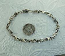 Vintage Sterling Scroll Link Bracelet, AK Clasp, Konder #347