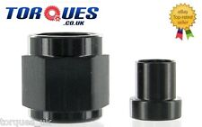 "AN -6 (AN6 9/16"" UNF 6AN ) 3/8"" Hardline Tube Nut and Sleeve In Black"
