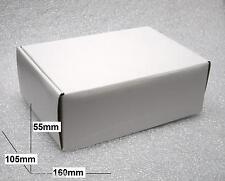5 Piezas - Cajas en Cartón Color Blanco Dimensiones 160 x 105 x 55mm