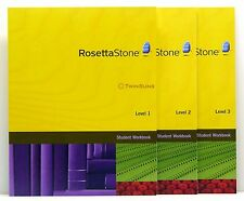 ROSETTA STONE® HOMESCHOOL WORKBOOKS LA SPANISH 1 2 & 3