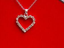 Crystal  Elegant Heart  Neckless   Costume jewellery