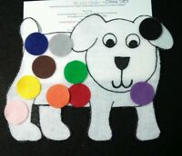Felt/ Flannel Board Story - DOG'S COLORFUL DAY  preschool circle time