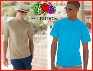 Promozione FRUIT OF THE LOOM maglietta T-shirt 27 COLORI magliette MANICA CORTA