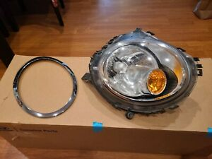 2007-2013 Mini Cooper RH Passenger Side Headlight with Trim Ring Part 1305630534