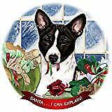 Basenji Black/White Dog Porcelain Ornament Pet Gift 'Santa. I Can Explain!'