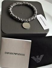 EMPORIO ARMANI LOGO STAINLESS STEEL LINK STRETCH BNWT CERTIFICATE BOX EUR109.00