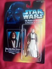 New1995 Starwarsthe Power of The Force Ben Kenobi on Red Canadian Card MOC