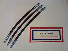 AUSTIN HEALEY 100 1954-1957 FLEXIBLE BRAKE HOSE SET 2 FRONT & 1 REAR (JR483)