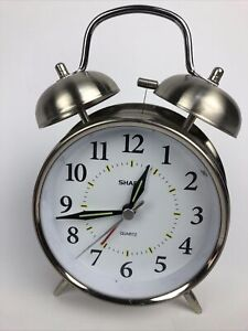 SHARP ALARM CLOCK - SPC800 - Battery Operated - old style with two bells on top